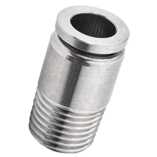 Stainless Steel Push in Fitting - Hexagon Male Connector