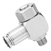 316L Stainless Steel Push to Connect Fitting - Female Banjo NPT Thread