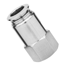 316L Stainless Steel Push to Connect Fitting Female Connector