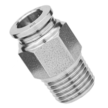 Male Connector 316L Stainless Steel Push to Connect Fitting