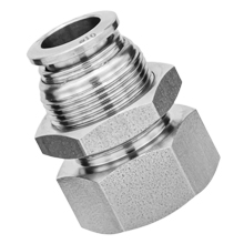 316L Stainless Steel Push to Connect Fitting - Bulkhead Female Connector
