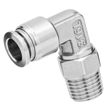 316L Stainless Steel Push to Connect Fitting Male Elbow