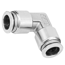 316L Stainless Steel Push to Connect Fitting - Union Elbow