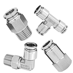 316L Stainless Steel Push to Connect Fittings, 316 Stainless Steel Pneumatic Tube Fittings
