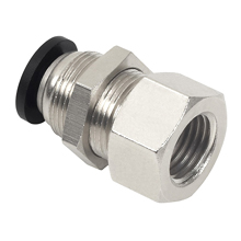 Pneumatic Push in Fitting - Bulkhead Female Connector