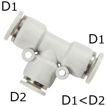Push in Fitting - Union Tee Reducer