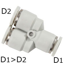 Push in Fitting - Union Y Reducer